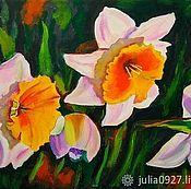Картины и панно handmade. Livemaster - original item Daffodil Oil painting. Handmade.