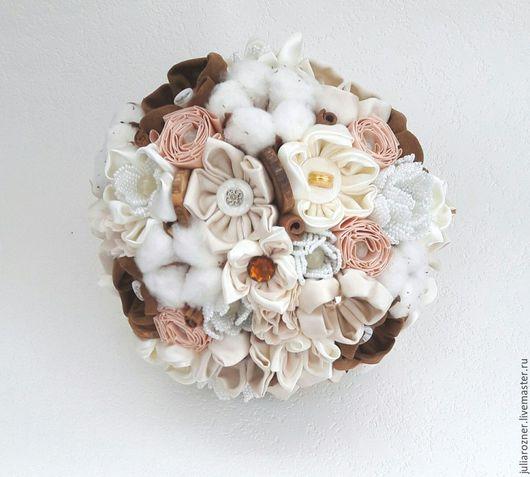 Свадебные цветы ручной работы. Ярмарка Мастеров - ручная работа. Купить Свадебный брошь букет невесты в стиле Рустик.. Handmade.