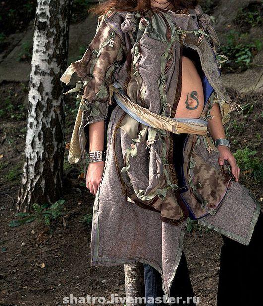 Верхняя одежда ручной работы. Ярмарка Мастеров - ручная работа. Купить женское пальто ЗАГАДОЧНОЕ. Handmade. Авторский дизайн, кожа