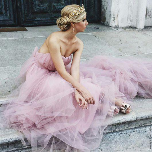 """Диадемы, обручи ручной работы. Ярмарка Мастеров - ручная работа. Купить Свадебная корона """"Perle Rose"""". Handmade. Корона для невесты"""