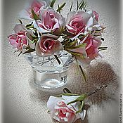 """Украшения ручной работы. Ярмарка Мастеров - ручная работа Шпильки """"Кустовая Роза"""". Handmade."""