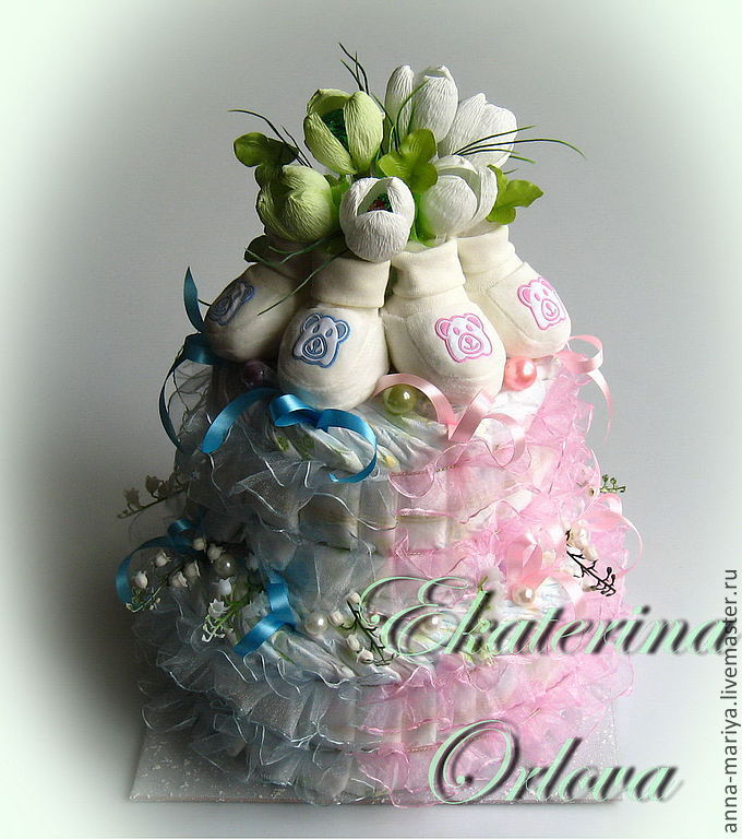 Цветы доставкой, букет для новорожденных близняшек