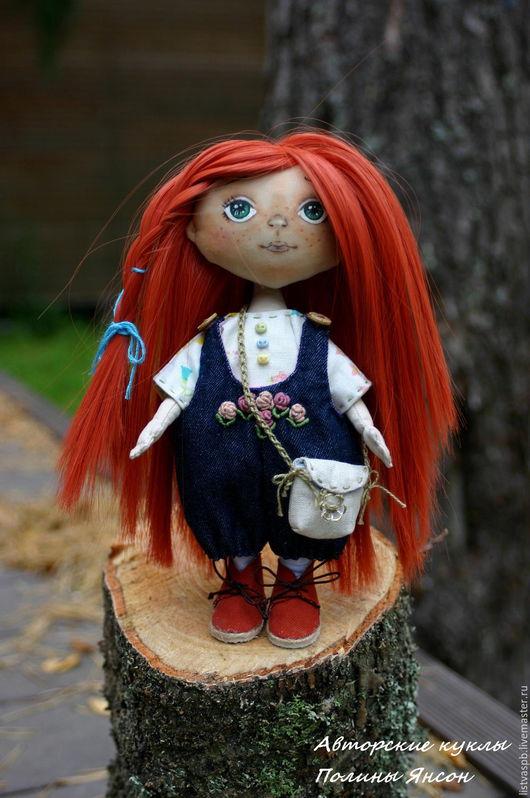 Коллекционные куклы ручной работы. Ярмарка Мастеров - ручная работа. Купить Авторская интерьерная кукла ручной работы малышка с гардеробом. Handmade.