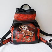 Сумки и аксессуары handmade. Livemaster - original item Women`s leather backpack with an engraving to order for Lyudmila.. Handmade.
