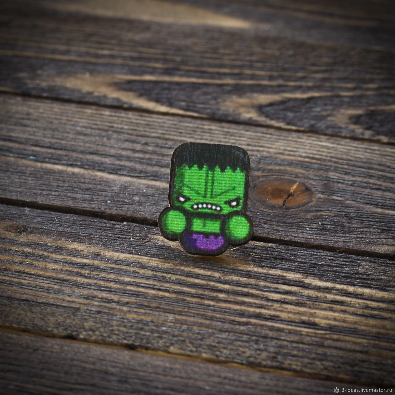 Wooden icon Hulk, Badge, Volzhsky,  Фото №1