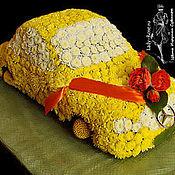 Цветы и флористика ручной работы. Ярмарка Мастеров - ручная работа Машина из цветов. Handmade.
