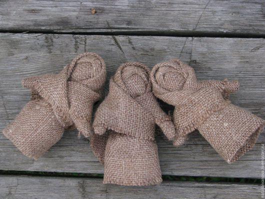 Народные куклы ручной работы. Ярмарка Мастеров - ручная работа. Купить Куколка из мешковины. Handmade. Коричневый, кукла ручной работы