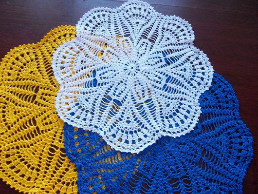 Текстиль, ковры ручной работы. Ярмарка Мастеров - ручная работа. Купить салфетка № 22. Handmade. Синий