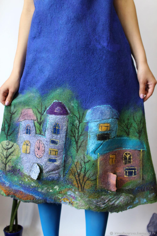 Felted dress Evening city!, Dresses, Verhneuralsk,  Фото №1