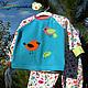 """Одежда для девочек, ручной работы. Ярмарка Мастеров - ручная работа. Купить Пижама """"Птичка - невеличка"""". Handmade. Тёмно-бирюзовый, рибана"""