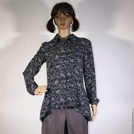 Блузки ручной работы. Ярмарка Мастеров - ручная работа. Купить Рубашка Пенелопа. Handmade. Рубашка из хлопка, женская рубашка