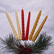 Свечи ручной работы. Ярмарка Мастеров - ручная работа Набор из двух литых свечей. Handmade.