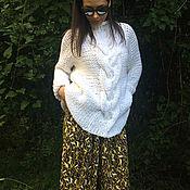 Одежда ручной работы. Ярмарка Мастеров - ручная работа Вязаный свитер с длинными рукавами ARANA. Handmade.