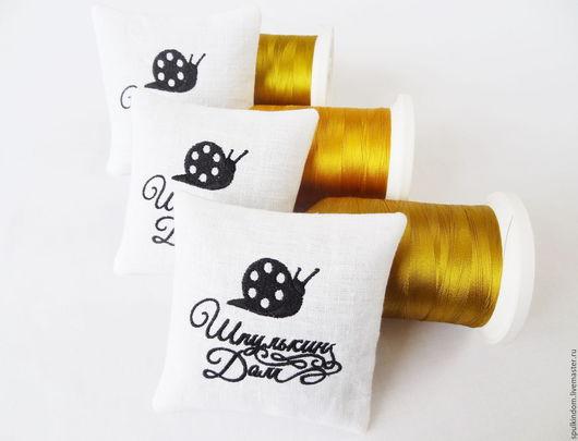 Саше с вышивкой логотипа Вашего магазина `Шпулькин дом` мастерская вышивки