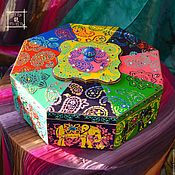 Для дома и интерьера handmade. Livemaster - original item Big box in Boho style