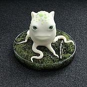 """Сувениры и подарки handmade. Livemaster - original item Figurine """"moss monster"""". Handmade."""