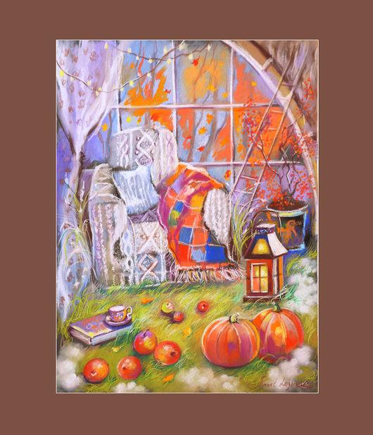 Фантазийные сюжеты ручной работы. Ярмарка Мастеров - ручная работа. Купить Уютная осень. Handmade. Теплые оттенки, осень