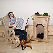 handmade. Livemaster - original item Rocking chair for dolls. Handmade.