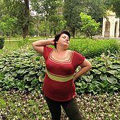"""Одежда ручной работы. Ярмарка Мастеров - ручная работа Туника """"Бордо"""". Handmade."""