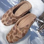 Обувь ручной работы. Ярмарка Мастеров - ручная работа валяные тапочки из шерсти Лео. Handmade.