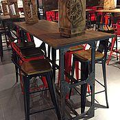 Для дома и интерьера ручной работы. Ярмарка Мастеров - ручная работа Высокий барный стол на заказ. Handmade.