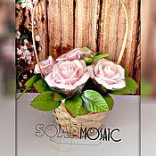 Косметика ручной работы. Ярмарка Мастеров - ручная работа Мыльный букет из 5 роз в корзинке. Handmade.