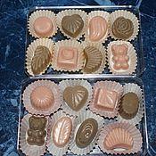 """Косметика ручной работы. Ярмарка Мастеров - ручная работа мыло """"набор шоколадных конфет"""". Handmade."""