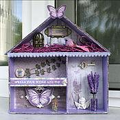 """Для дома и интерьера ручной работы. Ярмарка Мастеров - ручная работа Shadow Box """"Лавандовый"""". Handmade."""