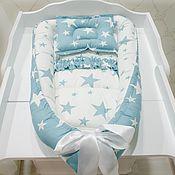 Для дома и интерьера ручной работы. Ярмарка Мастеров - ручная работа Кокон для новорожденного голубой. Handmade.