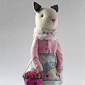Куклы и игрушки ручной работы. Ярмарка Мастеров - ручная работа Bonney.Текстильная кошечка.. Handmade.
