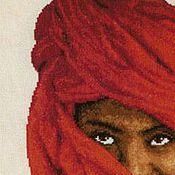 Картины и панно ручной работы. Ярмарка Мастеров - ручная работа Дама в красном платке. Handmade.