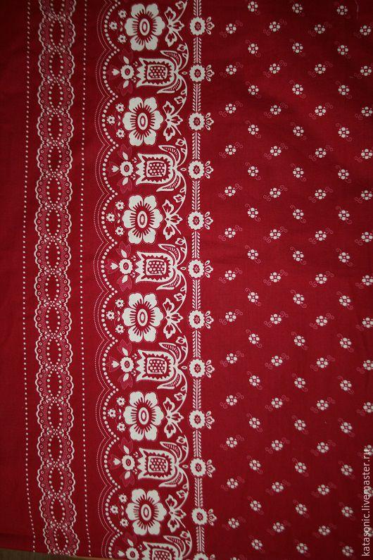 Шитье ручной работы. Ярмарка Мастеров - ручная работа. Купить 1148 Американская ткань. Handmade. Бордовый, ткань для творчества