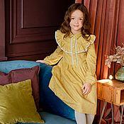 Платья ручной работы. Ярмарка Мастеров - ручная работа Платье Эмма из теплого хлопка. Handmade.