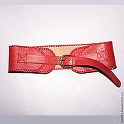 """Аксессуары ручной работы. Ярмарка Мастеров - ручная работа Пояс """"Красный"""". Handmade."""