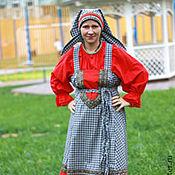 Русский стиль ручной работы. Ярмарка Мастеров - ручная работа Каргапольский костюм. Handmade.