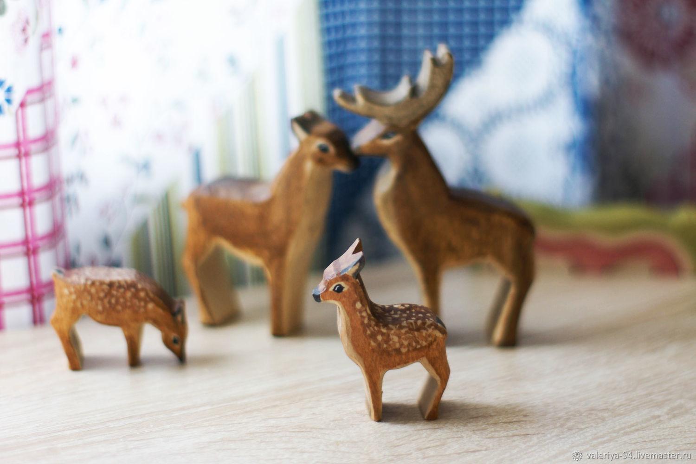 Семья благородных оленей, Вальдорфские куклы и звери, Суоярви,  Фото №1