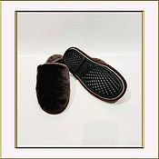 Обувь ручной работы handmade. Livemaster - original item Home women`s Slippers made of Australian Mouton (Sheepskin, Merino). Handmade.