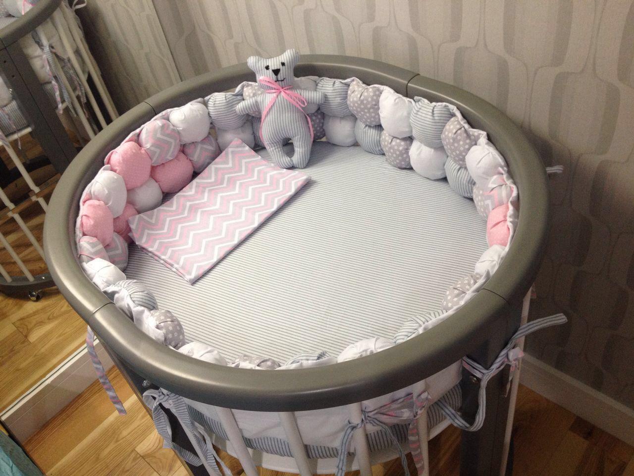 Бортики на круглую кроватку сшить