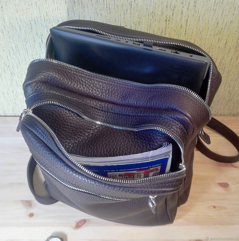 Рюкзак большой, городской, из натуральной кожи, Рюкзаки, Новосибирск,  Фото №1