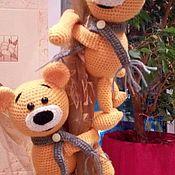 Мягкие игрушки ручной работы. Ярмарка Мастеров - ручная работа Мягкие игрушки: Мишки-держатели для занавесок. Handmade.
