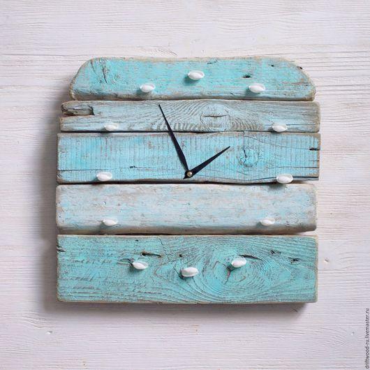 Часы для дома ручной работы. Ярмарка Мастеров - ручная работа. Купить Часы из даров моря. Handmade. Морской стиль, часы
