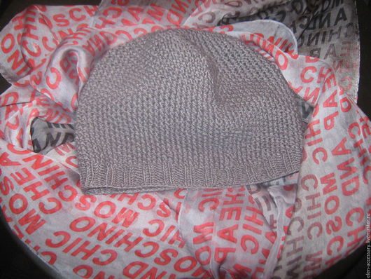 Шапки ручной работы. Ярмарка Мастеров - ручная работа. Купить шерстяная шапочка Жаннет. Handmade. Серый, шапочка, шапочка вязаная