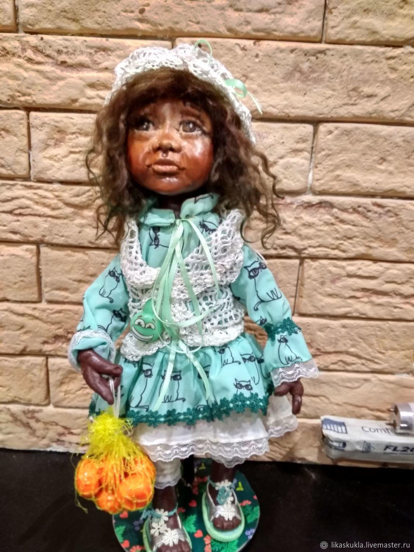 Кукла негритяночка, Шарнирная кукла, Санкт-Петербург,  Фото №1