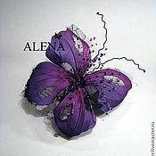 Украшения ручной работы. Ярмарка Мастеров - ручная работа Бабочка фиолетовая. Handmade.