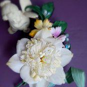 Свадебный салон ручной работы. Ярмарка Мастеров - ручная работа Нарцисс махровый из японских тканей.. Handmade.