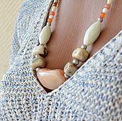 Украшения handmade. Livemaster - original item The beads on the cord Souffle. Handmade.