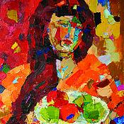 """Картины и панно ручной работы. Ярмарка Мастеров - ручная работа Картина """"Портрет Кати"""". Handmade."""
