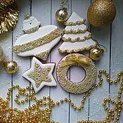 Наборы ручной работы. Ярмарка Мастеров - ручная работа Новогодний пряничный набор #3. Handmade.