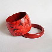 Украшения ручной работы. Ярмарка Мастеров - ручная работа браслеты деревянные  Аромат розы. Handmade.