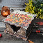 """Для дома и интерьера ручной работы. Ярмарка Мастеров - ручная работа """"Сладкий сентябрь"""" салфетница. Handmade."""